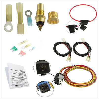 Temperature Con Works on Single or Dual Fans Ford//Mercury Fan Relay Wiring Kit