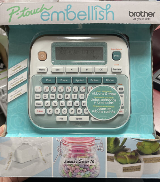 NEW BROTHER P-TOUCH EMBELLISH  RIBBON  AND TAPE PRINTER  PT-D215E