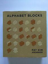 Areaware Alphabet Wood Block Set Pat Kim Abstract