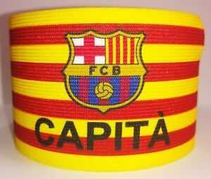 FC Barcelona Captain Armband Spain Fascia Capitano Brazalete Capitan
