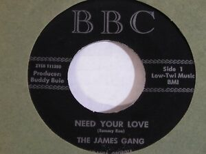 The-James-Gang-Need-Your-Love-RARE-1966-Georgia-Private-Soul-45-NEAR-MINT-NOS