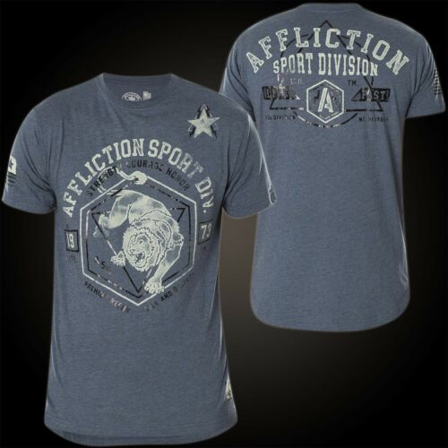 AFFLICTION T-Shirt Animal Instinct Blue T-Shirts Mens