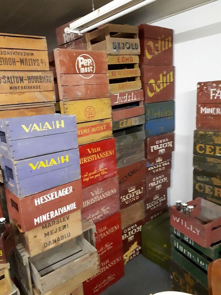 gamle øl trækasser