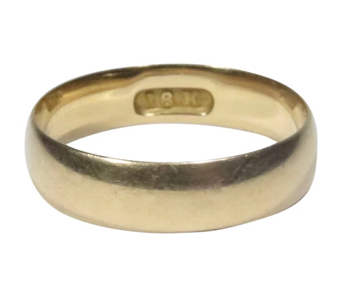 Antique Victorian 18K Gold Wedding Band Ring (RL20