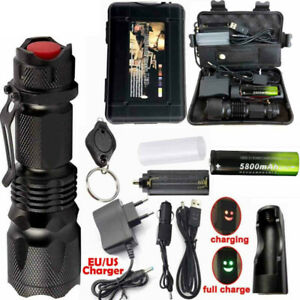 90000LM-X800-Powerful-Tactical-Military-T6-LED-Flashlight-Torch-Work-Light-Camp