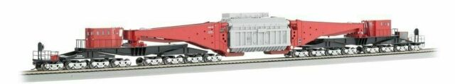 BACHMANN 80503 HO SCALE Spectrum 380-Ton Schnabel 16-Truck Heavy-Duty Car
