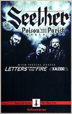 SEETHER Poison The Parish 2017 Ltd Ed RARE Tour Poster +FREE Rock Metal Poster!