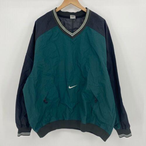 Nike Mens Windbreaker Jacket Green Red Swoosh Colo