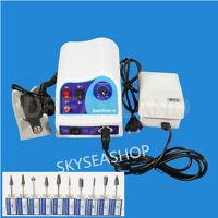 Dental Lab Marathon Micromotor Polisher N8 50K RPM Polishing Handpiece + Burs UK