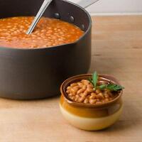 6 Piece Set French Onion Soup Bowl Crock Crocks 12 Ounce Brown Tan Stoneware C43