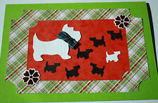 Scottie Westie  White dog with puppies  Greeting Card 010