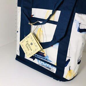 Sailboat-Fashion-tote-Bag-Shoulder-Bag-Fabric-Tote-Bag
