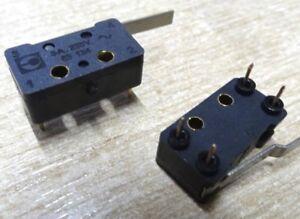 2x-Crouzet-83-134-0-PCB-mount-snap-latching-microswitch