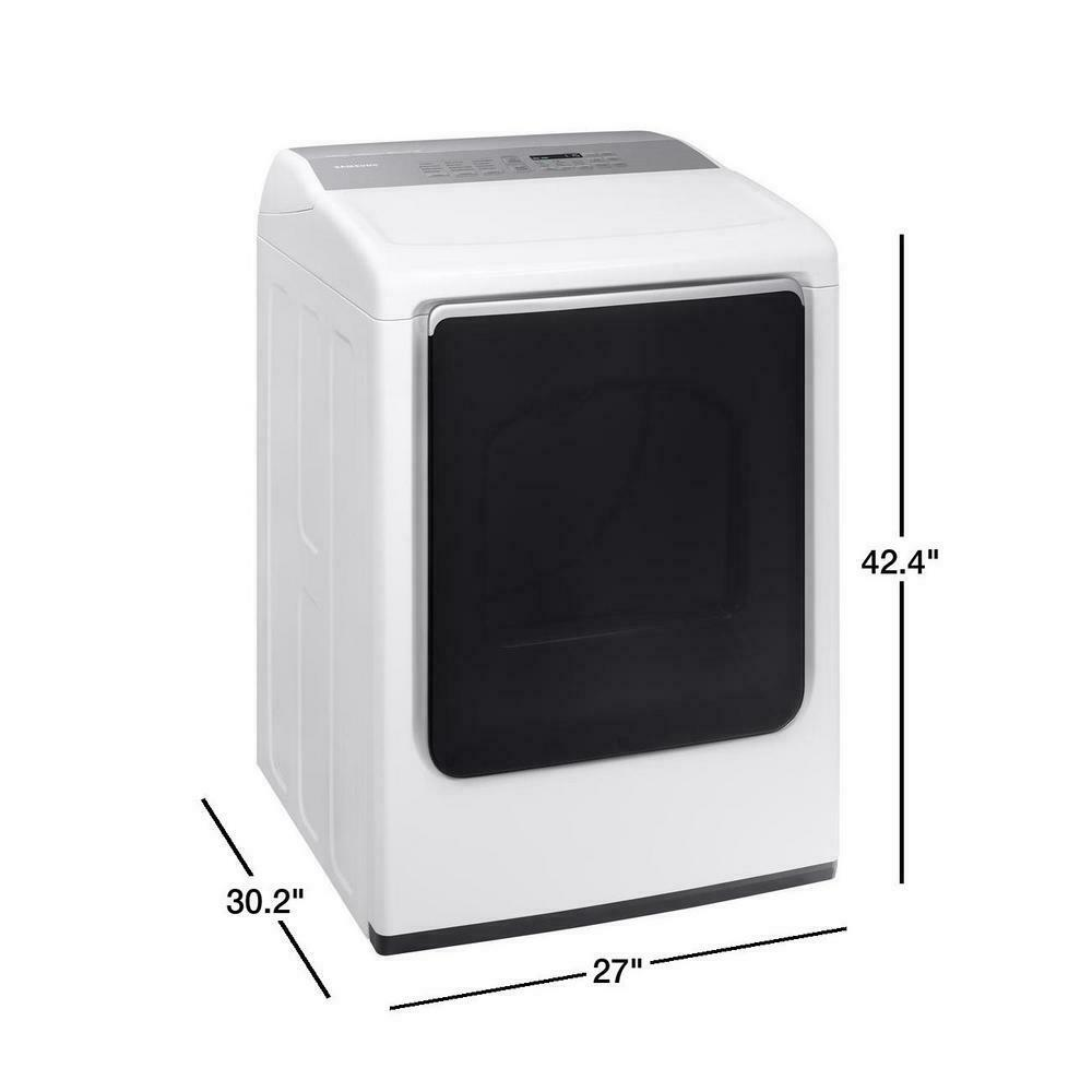 Samsung DVG52M8650W/A3 7.4 cu. ft. Gas Dryer with Multi-Steam White