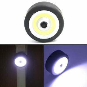 Battery Powered COB LED Round Magnetic Outdoor Torch Working Flashlight w/ Hook
