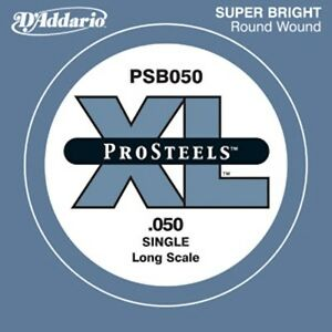 D'Addario ProSteel Bass Single String Long Scale PSB050 PSB070 PSB085 PSB105