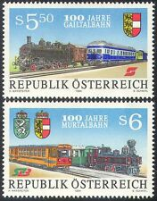 Austria 1994 Steam Engines/Diesel/Trains/Railway/Rail/Transport 2v set (n24843)