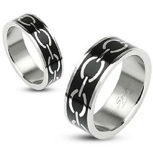 Jewelry & Watches Titanium 10mm Black Enamel Cross Religious Brushed Wedding Ring Band Size 14.00 Street Price