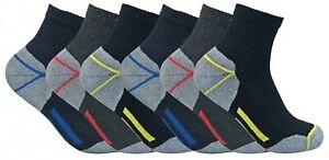 Mens-Ultimate-Heavy-Duty-Cushion-Cotton-Steel-Toe-Boot-Ankle-Quarter-Work-Socks