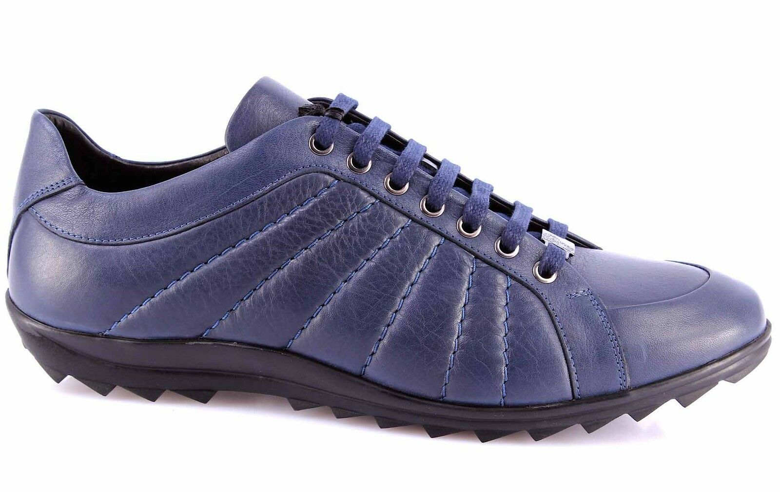 shoes men Sneakers VERSACE COLLECTION Cuir blue Made in  Exclusif