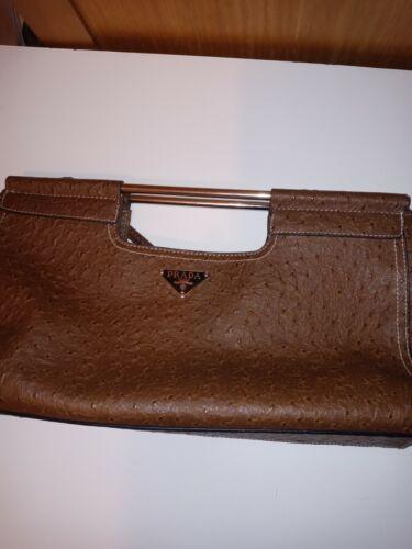 Prada sidonie Ostrich Leather