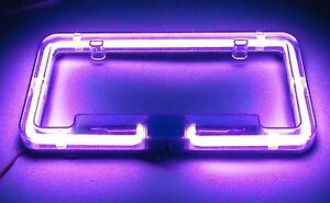 Marvelous Image Is Loading Neon Light Glow License Plate Frame With Choices
