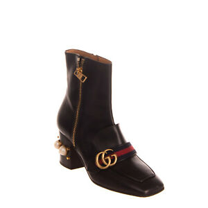 RRP-1070-GUCCI-Leather-Ankle-Boots-RIGHT-SHOE-ONLY-EU-38-5-UK-5-5-US-8-Heel
