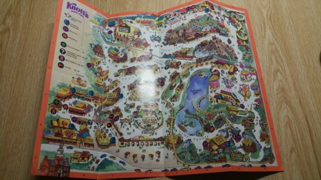 Vintage Knotts Berry Farm Official Souvenir Map Circa 1989 Nov 4 and on usc map, knott's map, kings island map, amtrak map, six flags map, buena park map, chino hills state park map, cedar point map, disneyland map, dollywood map, disney map, hersheypark map, universal studios map, dorney park map, great america map, santa monica map, los angeles map, san diego map, university of southern california map, sesame place map,