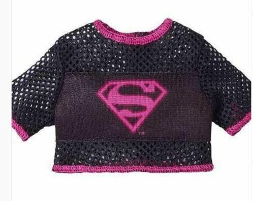 BARBIE SUPER HERO BLACK /& PINK SUPER GIRL TOP  for Barbie doll