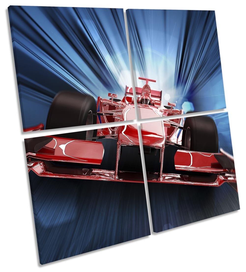 Formula One F1 Race Car Bild MULTI CANVAS Wand Kunst Square