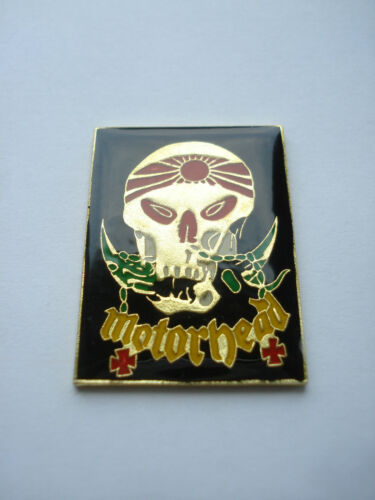 MOTORHEAD HEAVY METAL ROCK BAND MUSIC GOTHIC LEMMY ENAMEL RARE OLD PIN BADGE 99p