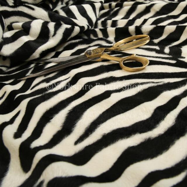 Safari Animal Zebra Black White Stripe Pattern Soft Velvet Fur
