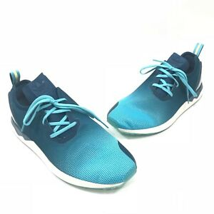 d2521ed634595 Adidas Mens ZX Flux ADV Asymmetrical Trainer Shoes Blue Glow Mineral ...