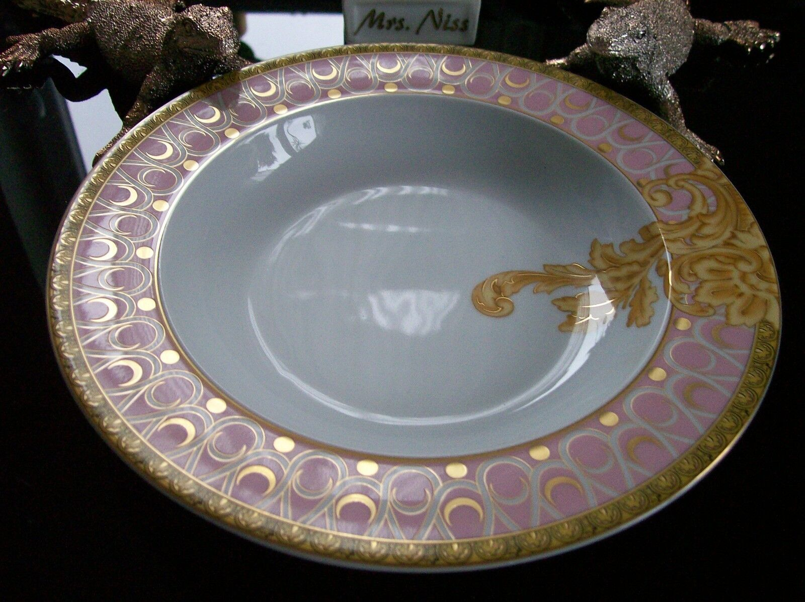 ROSENTHAL VERSACE les reves byzantins 1 x assiettes à soupe 22 cm  1 A article neuf