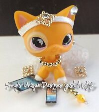 Littlest Pet Shop LPS clothes accessories QUEEN WHITE/GOLD SKIRT (NO CAT)