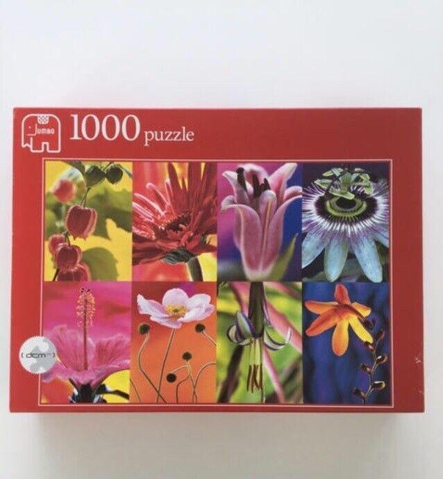 Jumbo puslespil Flower Collage 1000 brikker,