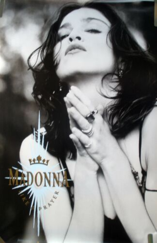 RARE MADONNA LIKE A PRAYER 1989 VINTAGE ORIGINAL MUSIC STORE PROMO POSTER