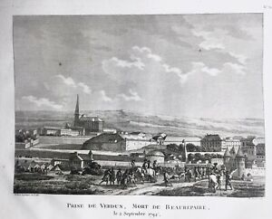 Verdun-en-1792-Mort-de-Beaurepaire-Rare-Gravure-Revolution-Francaise