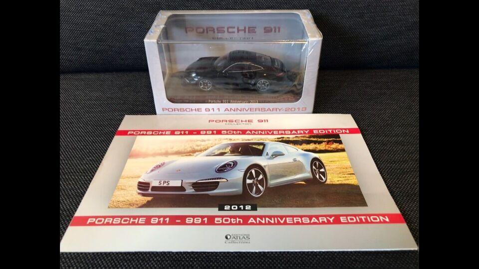 Modelbil, Atlas Porsche 911 Anniversary 2013, skala 1:43