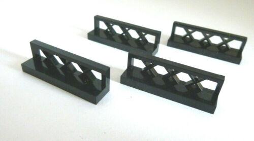 4 x LEGO® 3633 City,Zäune,Gitter,Absperrung in 1x4 schwarz Neuware.