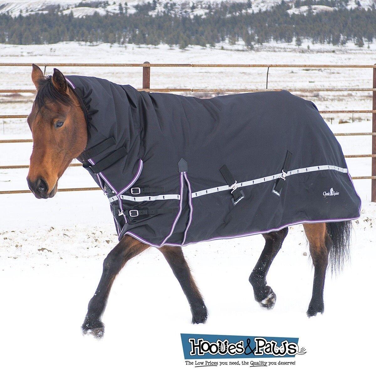 Classic Equine Horse 10k Cross Trainer d'Hiver à Capuche Couverture noir ou bleu jean