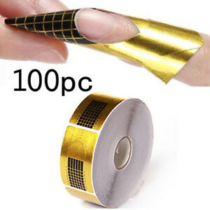 100-Stk-Modellierschablonen-Nagel-Schablonen-UV-Gel-Acryl-Nail-Art-Design