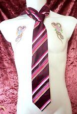 Rare 1990's Mens Designer Tie Cecil Gee Brand 100% Silk Multi Trendy Classic