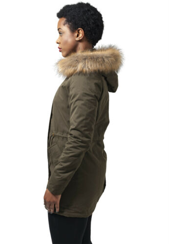 URBAN CLASSICS Giacca Giaccone donna Ladies Sherpa Lined Peached Parka TB1369