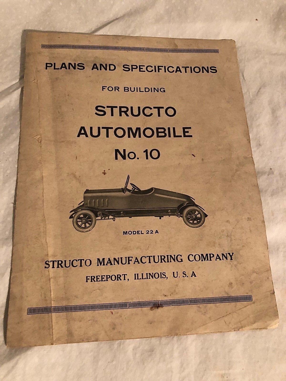 Sructo Spielsachen Auto Bauarbeiter Serie  10 Instruction Buch Teileliste