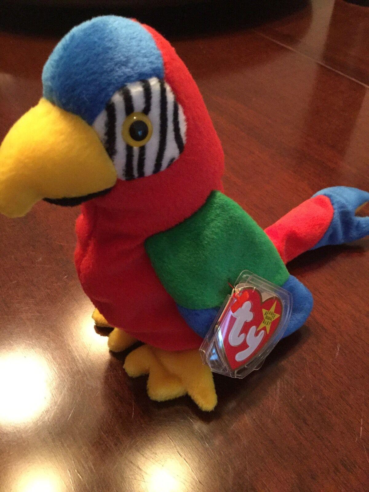 MISTAKE ON TAGRARE  Jabber GiGi  TY Beanie Baby Bird- NWT MINT 1997 1998