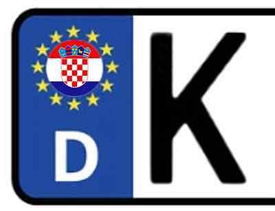 2x Kennzeichen Aufkleber KROATIEN Croatia Hrvatska Nummerschild Sticker