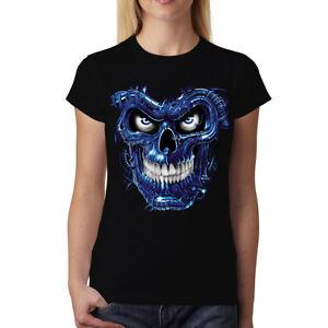 Terminator Skull femmes T-shirt S-3XL neuf