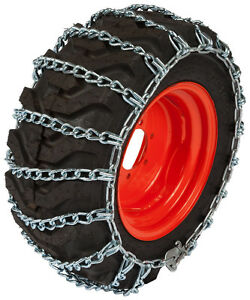 TireChain.com 4.00 x 8 4.00 8 Tractor Tire Chains w//Spring Tensioners