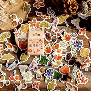 46pcs-lot-Autumn-Fallen-leaves-Plant-Paper-Diary-Mini-Cute-box-Stickers-s-EG